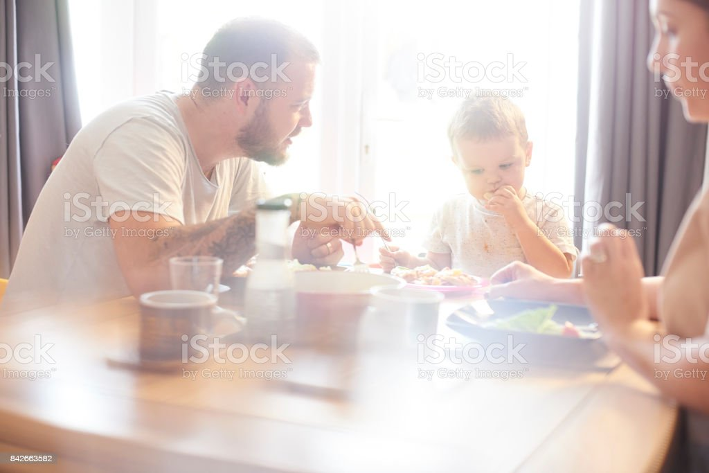 Tasty meal time stock photo