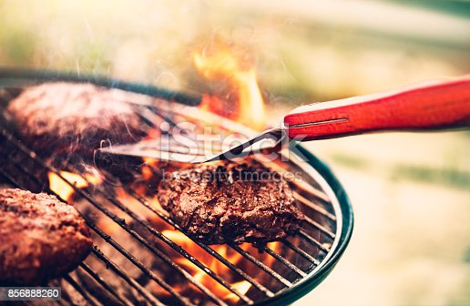 istock Tasty meat on the grill 856888260