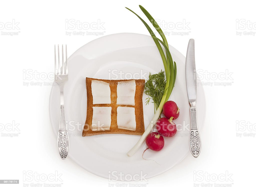 Tasty morning royalty-free stock photo