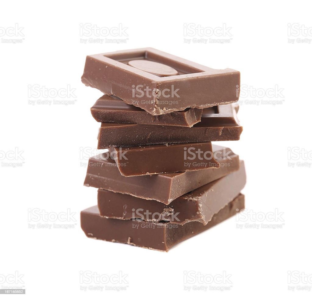 Tasty morsel of milk chocolate. royalty-free stock photo