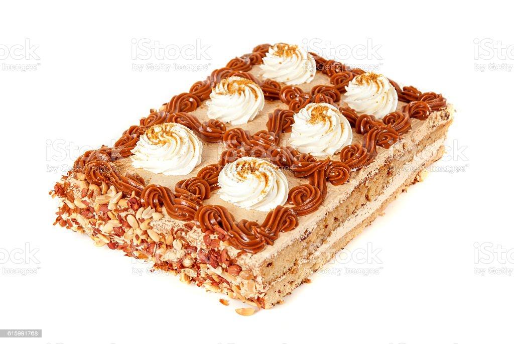 tasty nuts cake stock photo
