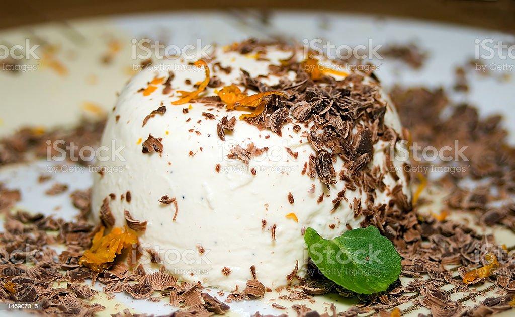 tasty  panna cotta royalty-free stock photo