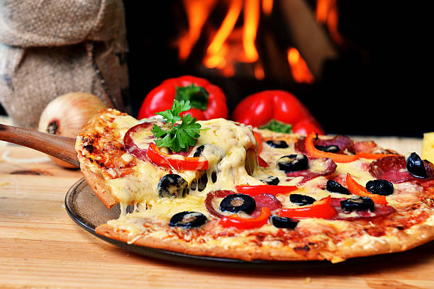 tasty pizza - pizzeria stock photos and pictures