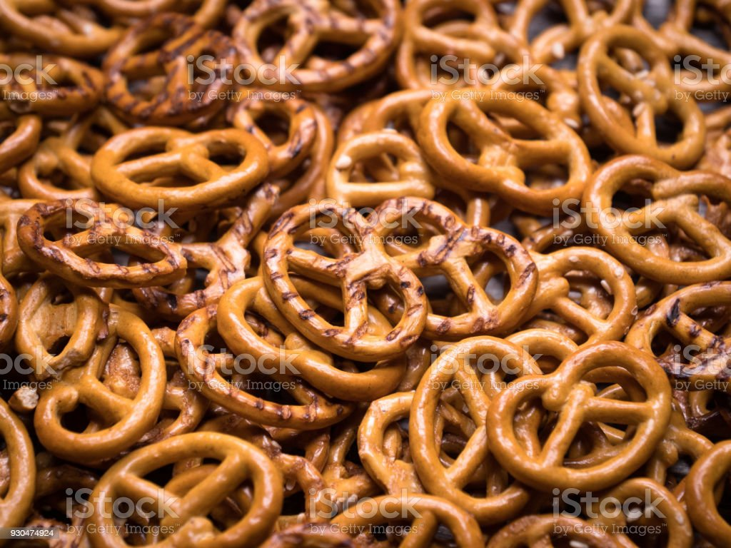 tasty prettels. close-up stock photo