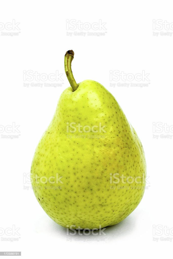 tasty ripe green isolated pear royalty-free stock photo