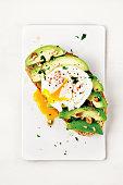 Egg, Avocado, Breakfast, Toasted Bread, Food