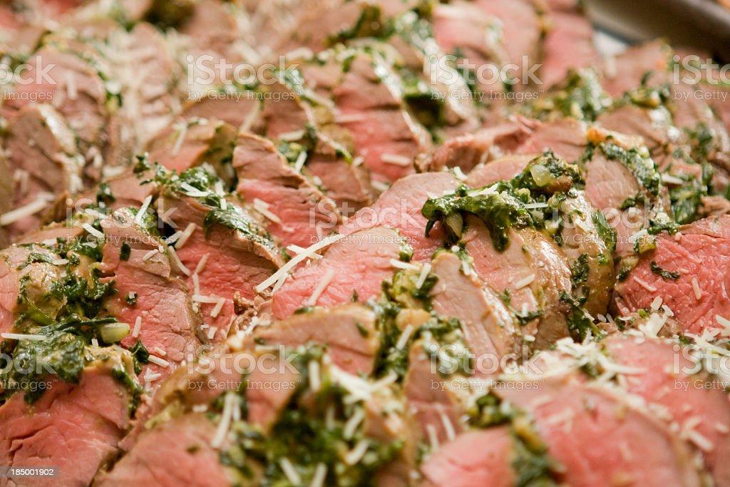 Tasty sliced meat stock photo