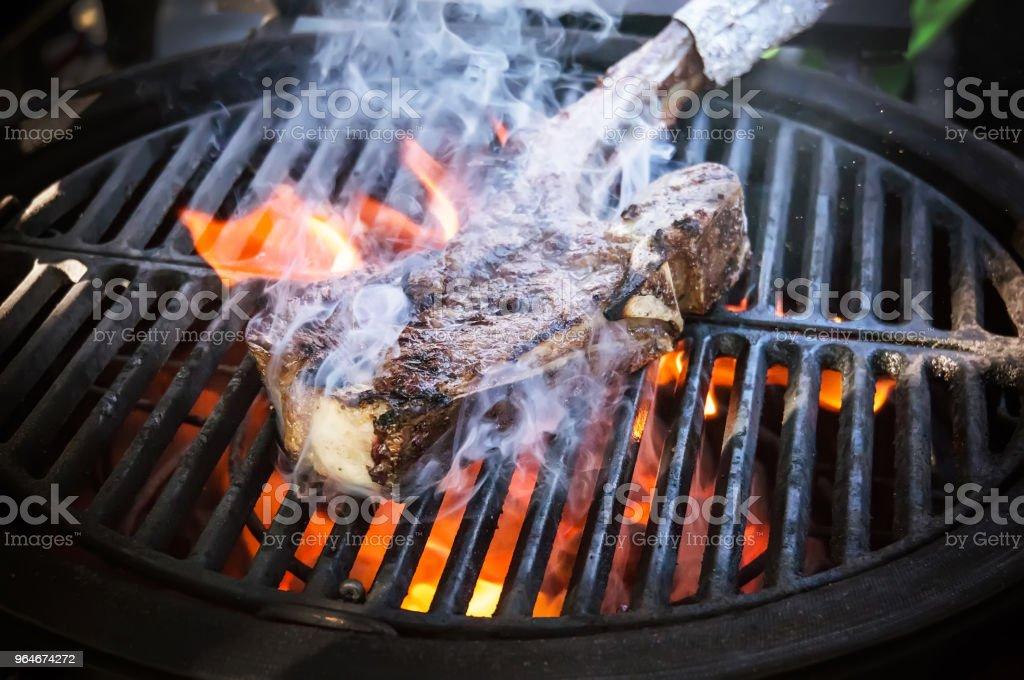 Tasty Smoked Pork Spare Ribs royalty-free stock photo