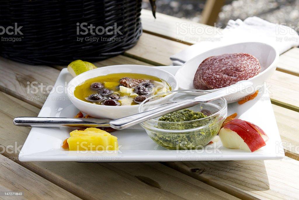 Tasty snacks on table royalty-free stock photo