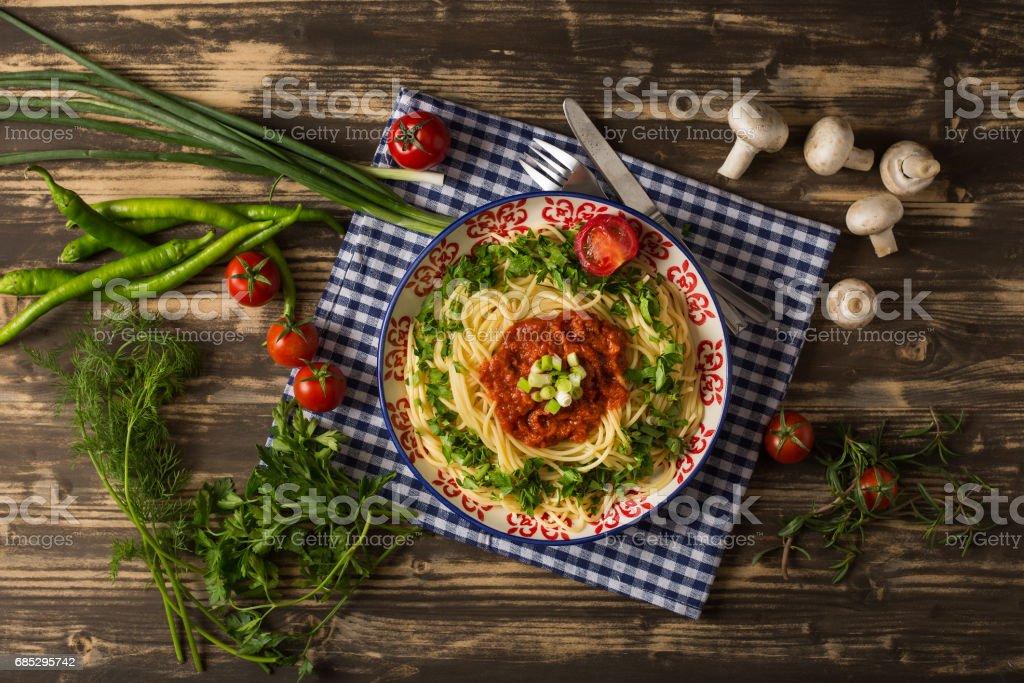 Tasty Spaghetti Neapolitan foto de stock royalty-free