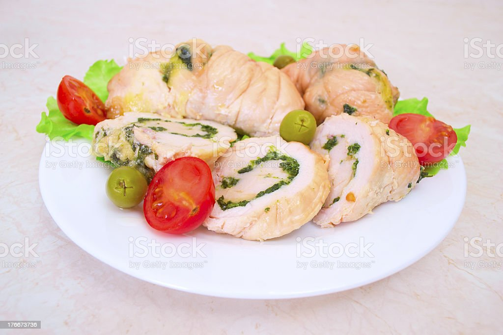 Tasty stuffed Chicken Salad . royalty-free stock photo