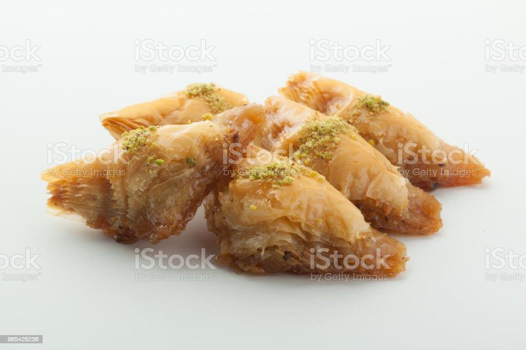 De savoureux délices turcs seul sur blanc - Photo de Aliment libre de droits