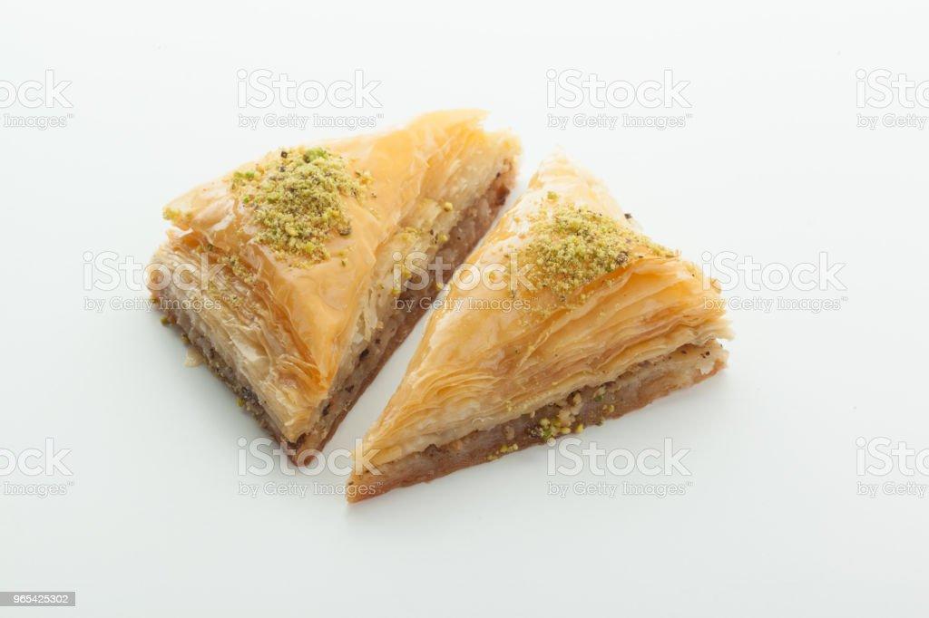Tasty Turkish delight isolated on white royalty-free stock photo