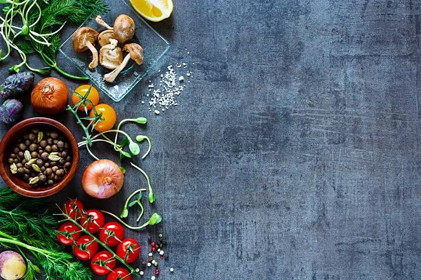 Verduras sabrosas fondo - foto de stock