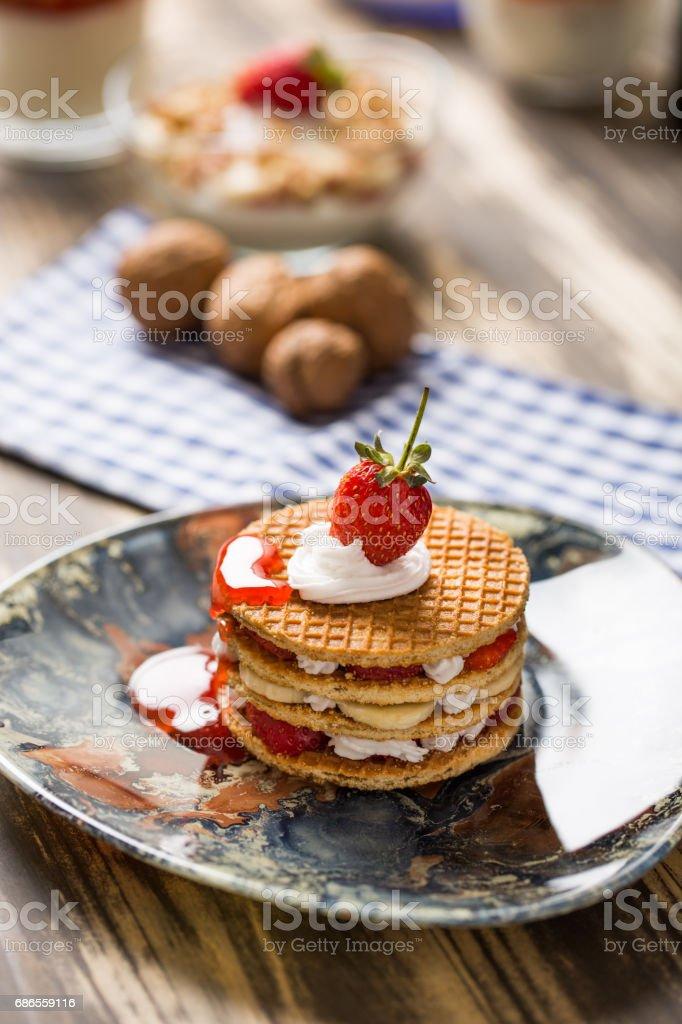 Tasty Waffle royalty-free stock photo