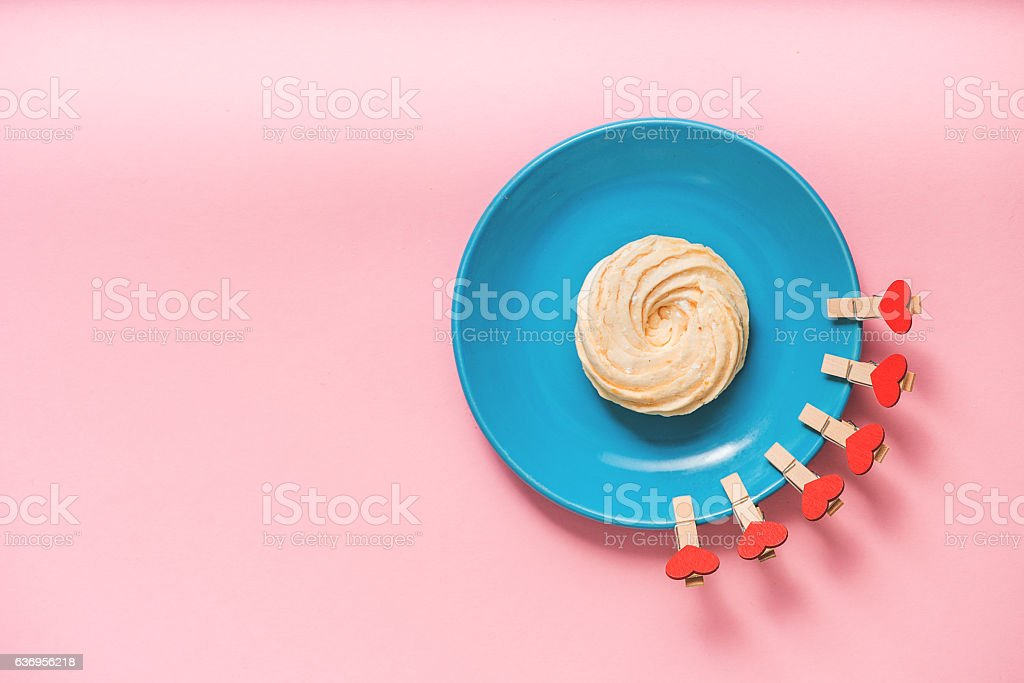 Tasty zephyr at little plate stock photo