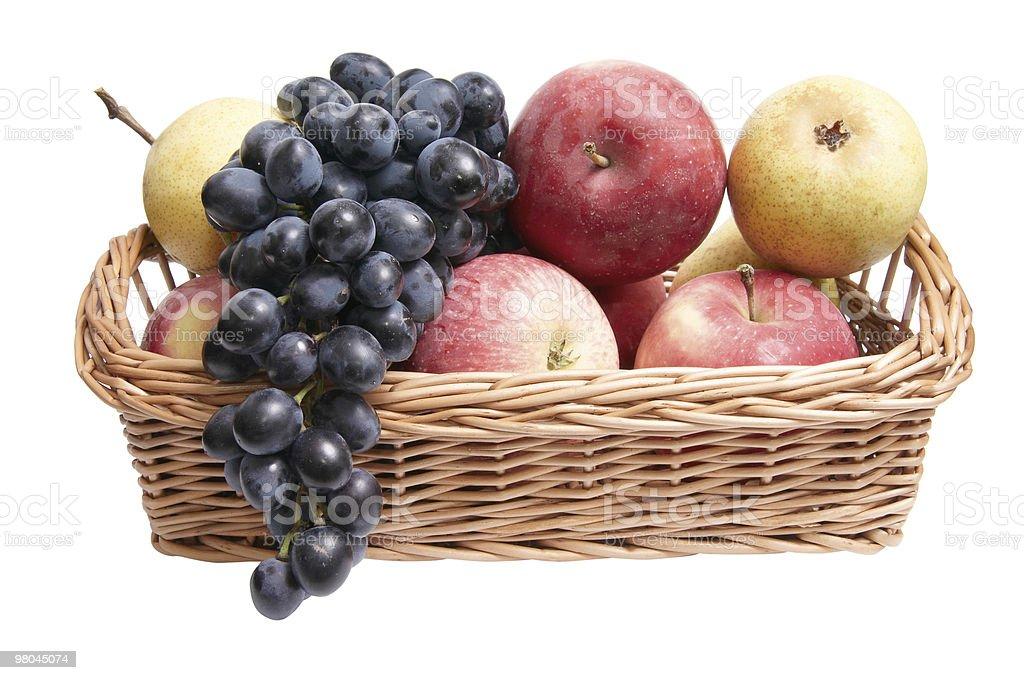 Ottimo, frutta succosa nel cestino. foto stock royalty-free