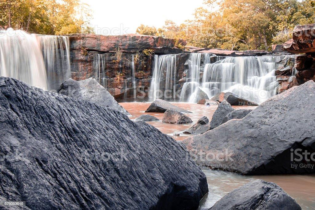 Tat Ton waterfall stock photo