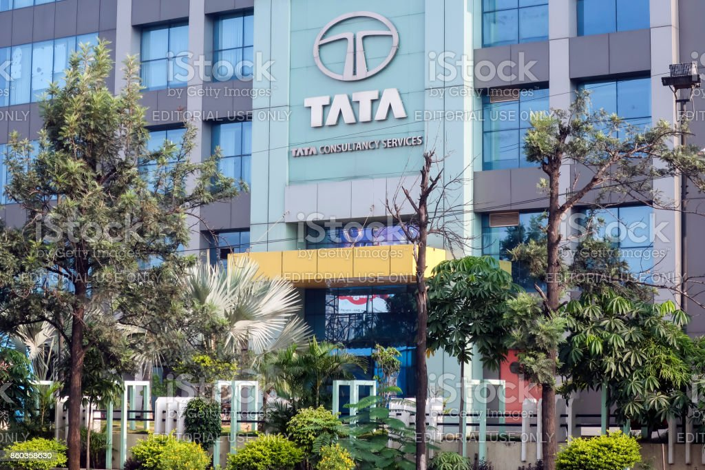 Tata Consultancy Services office, Hyderabad, India stock photo