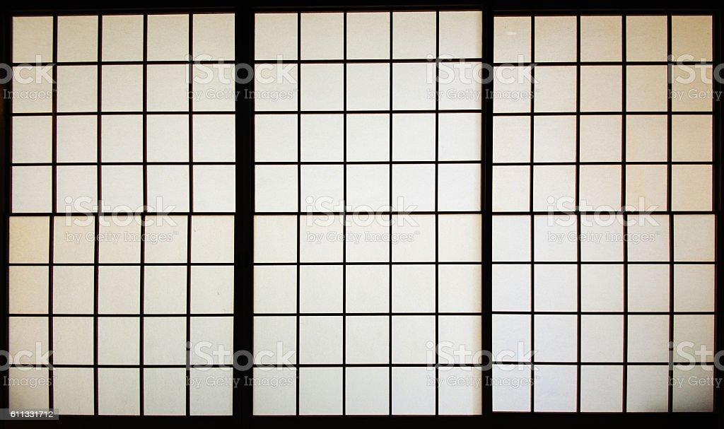 Tatami room walls in Japan stock photo
