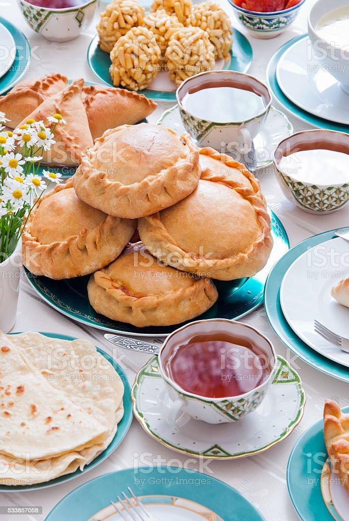 Tatar national cuisine stock photo