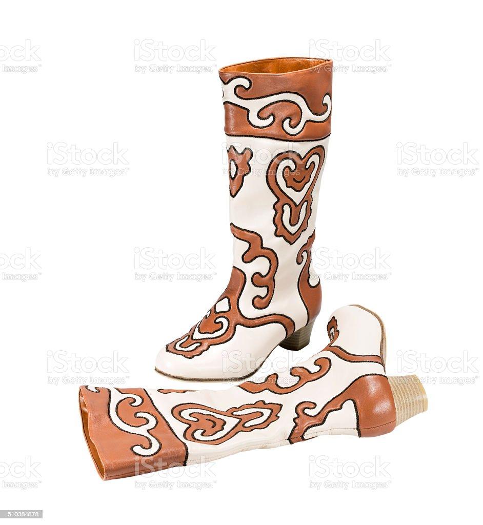 Tatar women boots Ichigi stock photo