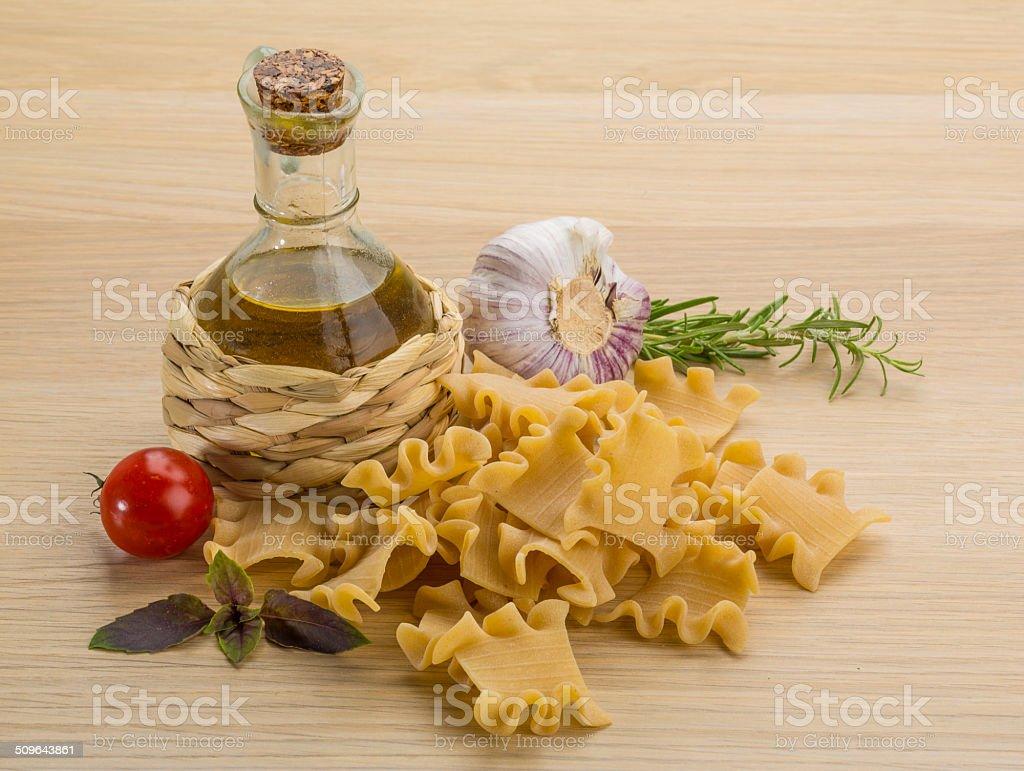 Tatarian makaroni - beshbarmak stock photo