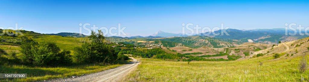 Tatarkhan village panorama stock photo