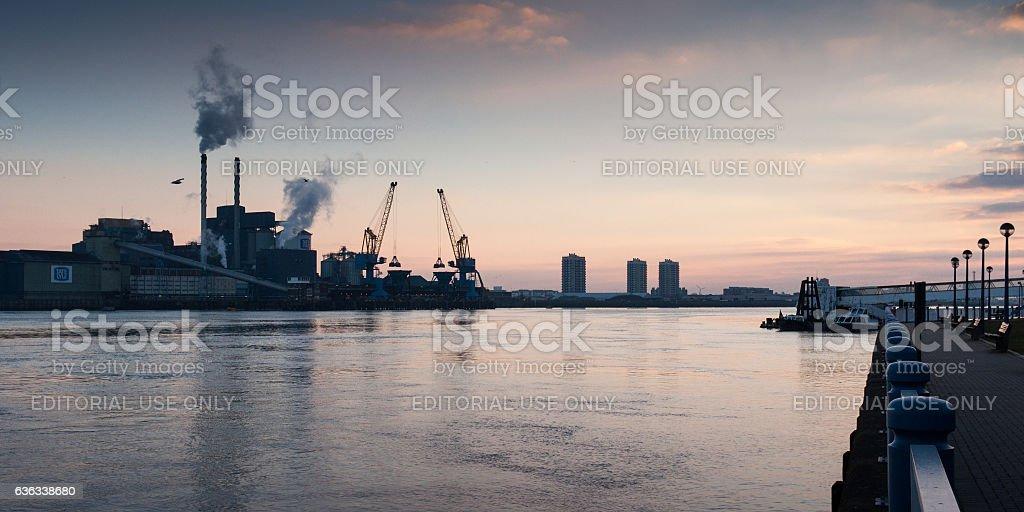 Tate & Lyle refinery at Silvertown stock photo