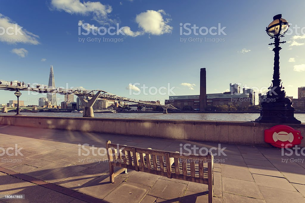 Tate Modern and The Shard stock photo
