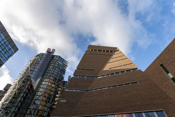 Tate Modern museum in London on a winter day stock photo