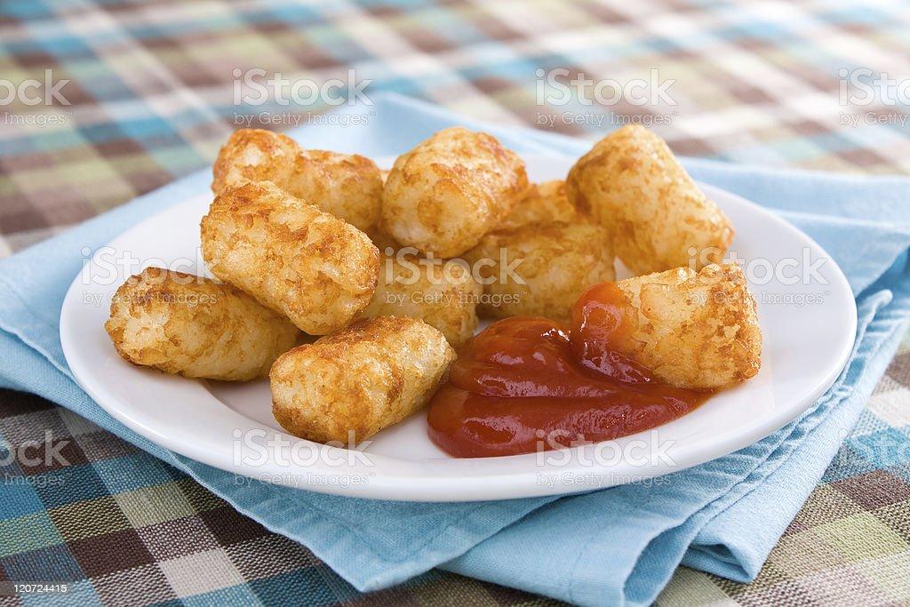 Tater Tots & Ketchup stock photo