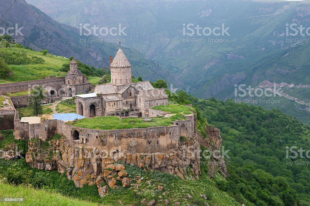 Tatev ancient monastery in Armenia stock photo