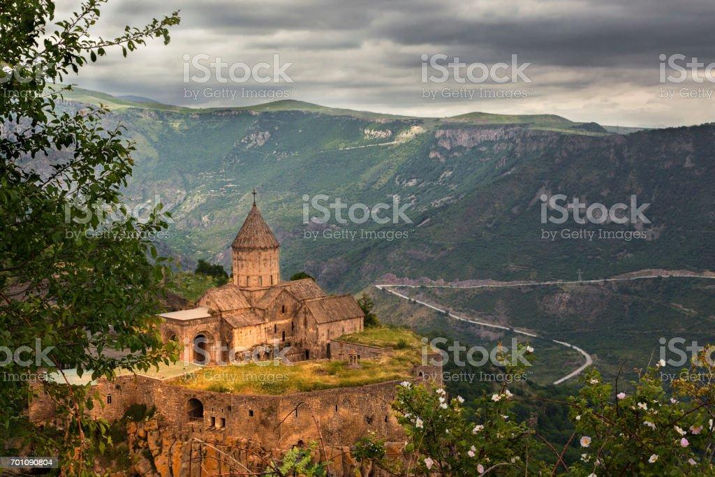 Tatev Cathedral in Goris, Armenia. stock photo