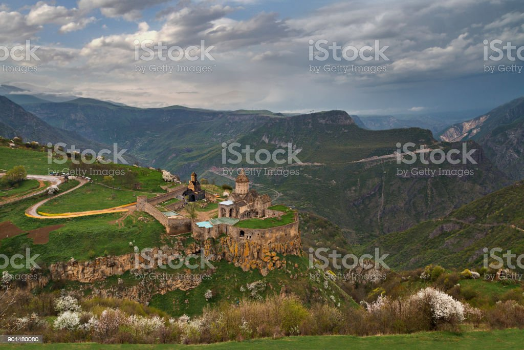 Tatev church and monastery, Goris, Armenia. stock photo