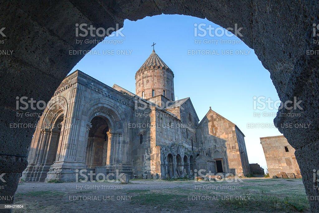 Tatev monastery in Armenia. stock photo