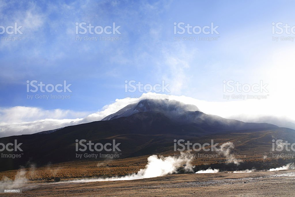 Atacama Geiser del Tatio (volcano) royalty-free stock photo