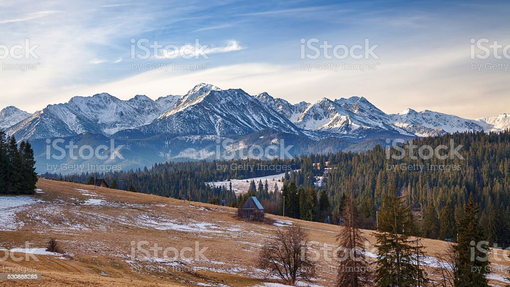 Tatra Mountains in early winter stock photo
