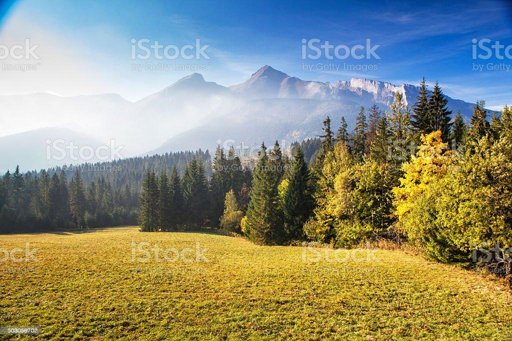 Tatra mountains in Slovakia stock photo