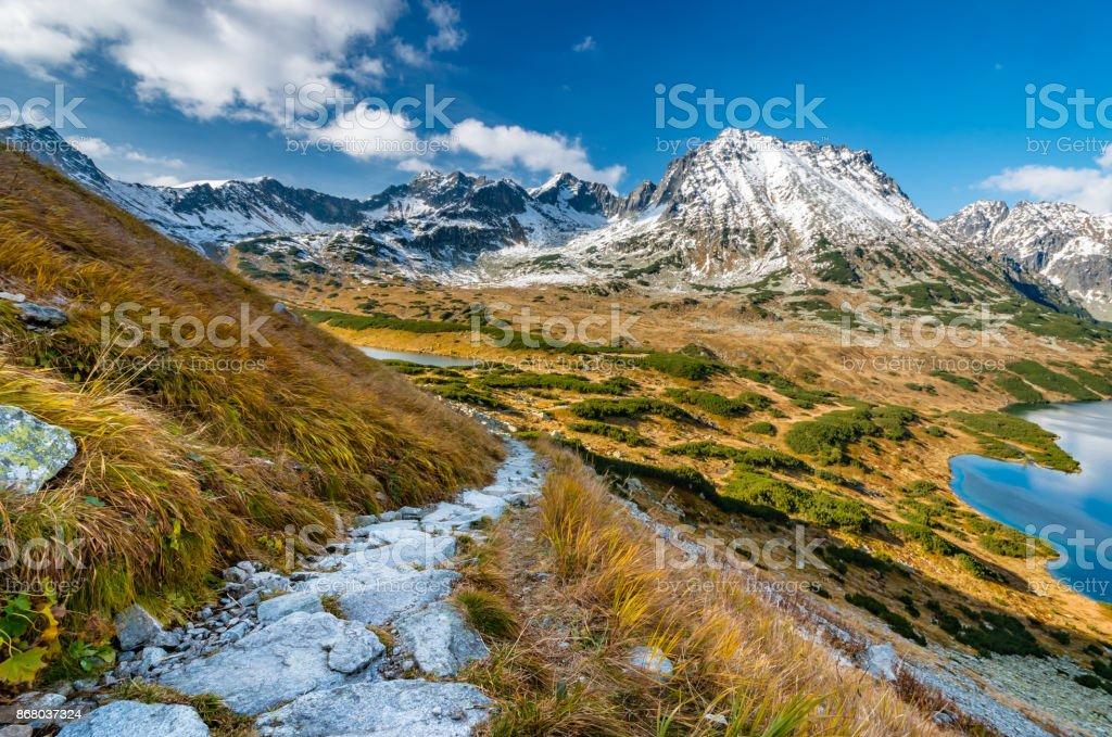 Tatra-Gebirge, Panorama des Tales vom Wanderweg – Foto