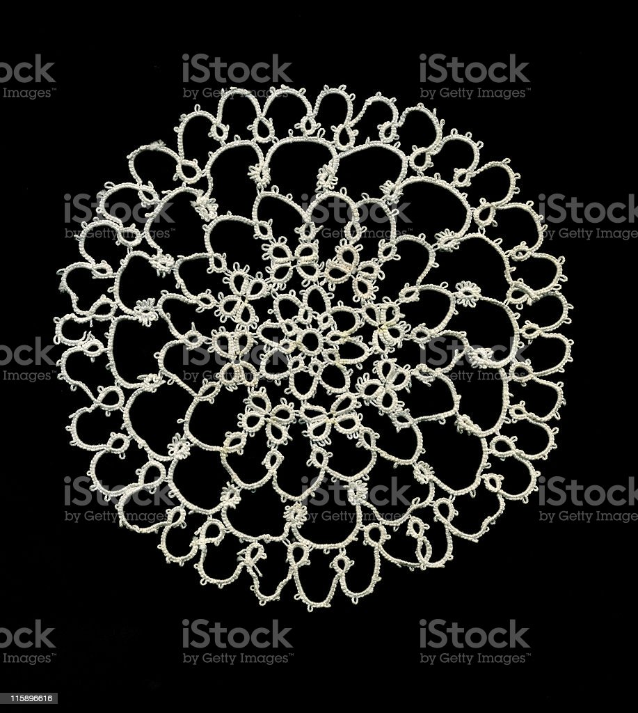 Tatted lace royalty-free stock photo