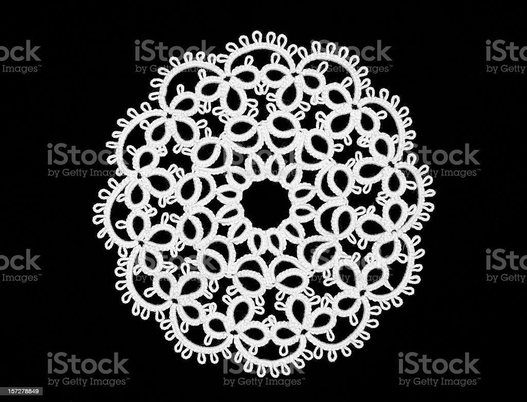 Tatted Ornament stock photo