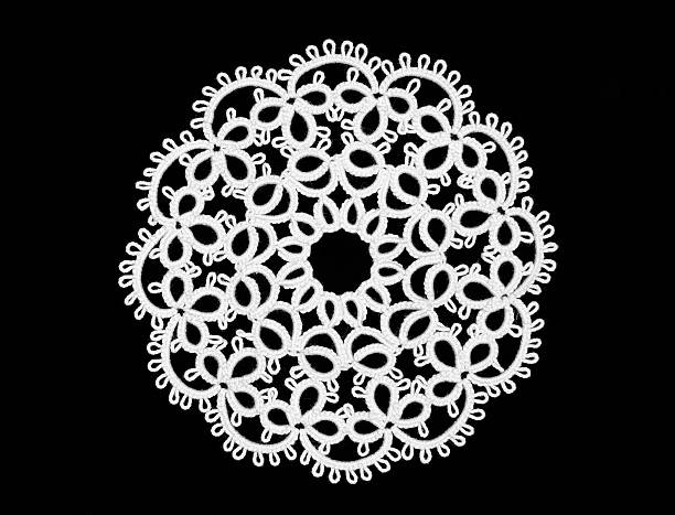 Tatted Ornament  lace textile stock pictures, royalty-free photos & images