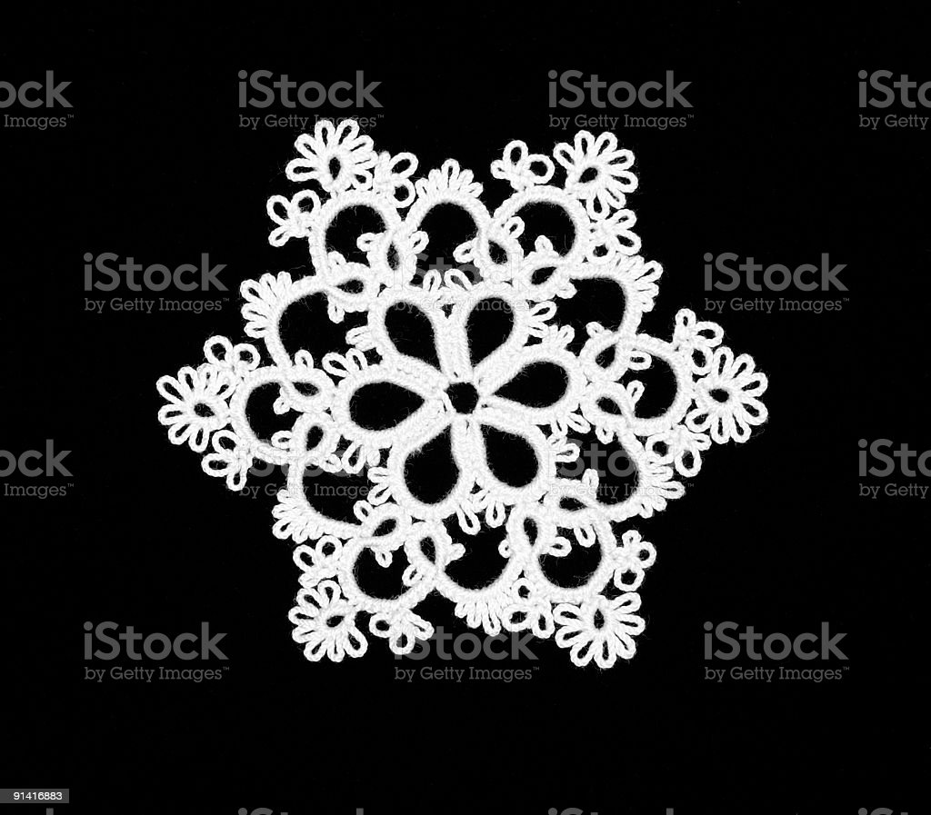 Tatted Ornament royalty-free stock photo