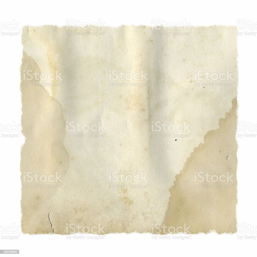 Tattered and Stained Paper Square royalty-free stock photo