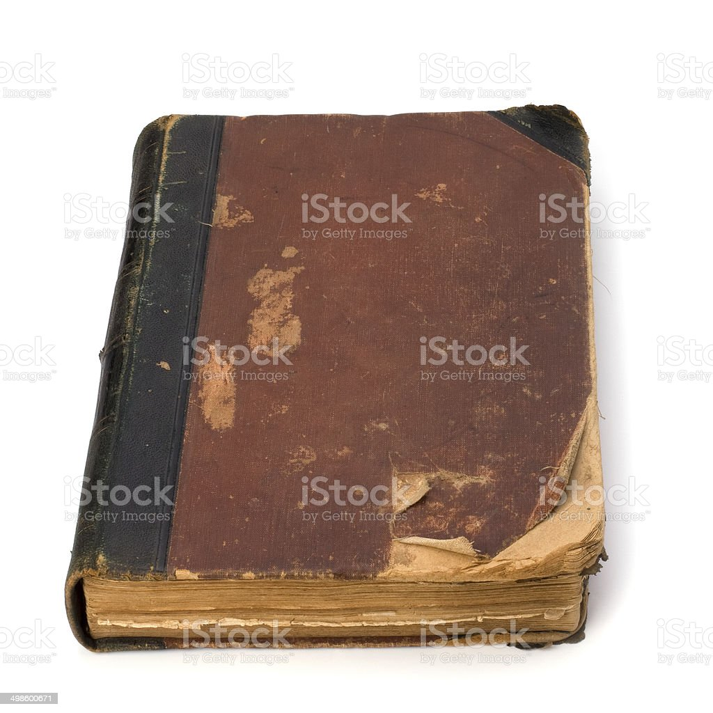 tattered book isolated on white background royalty-free stock photo
