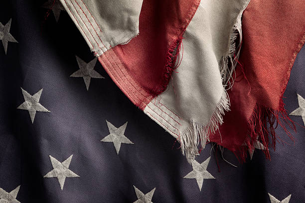 Zerschlissene US-Flagge – Foto
