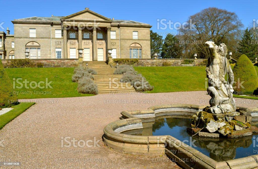 Tatton Hall in Cheshire stock photo