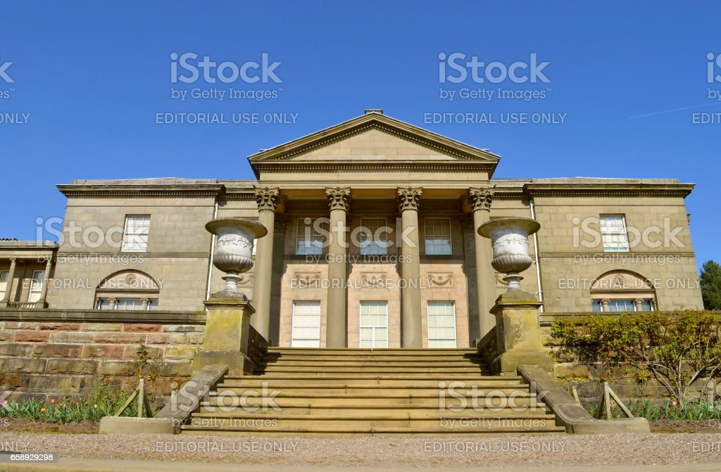 Tatton Hall south face stock photo