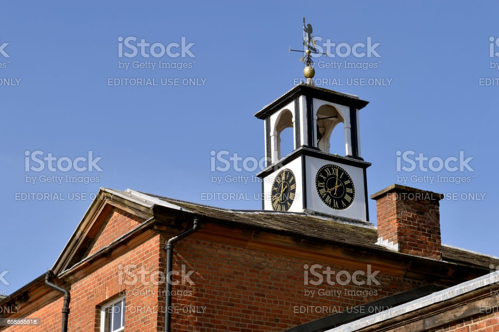 Tatton Park stables clock tower stock photo